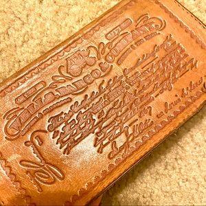 Vintage Collectors Stamp Leather Checkbook Case